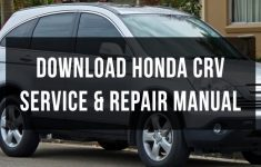 2000 Honda Cr V Owners Manual Download