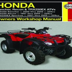 2000 Honda Rancher 350 Owners Manual
