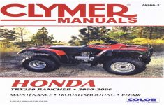 2000 Honda Rancher Es Owners Manual