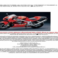 2000 Honda Rc51 Owners Manual