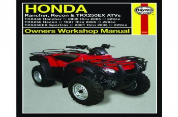 2001 Honda Rancher Owners Manual