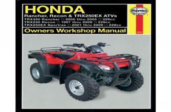2001 Honda Recon Owners Manual