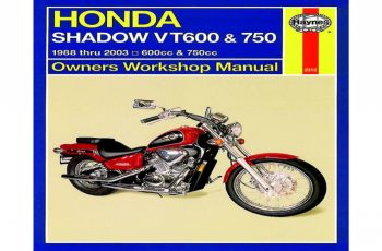 2001 Honda Shadow 600 Owners Manual