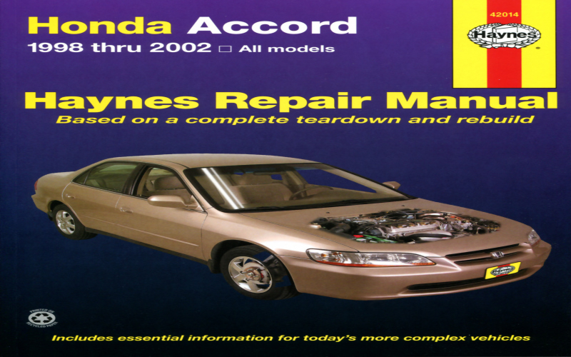 2002 Honda Accord Ex V6 Owners Manual