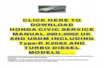 2002 Honda Civic Owners Manual Free Download