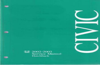 2002 Honda Civic Si Hatchback Owners Manual