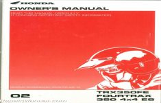 2002 Honda Rancher 350 Owners Manual