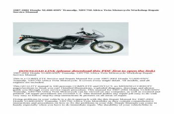2002 Honda Shadow Owners Manual