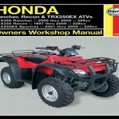 2002 Honda Sportrax 250ex Owners Manual