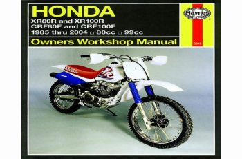 2002 Honda Xr100r Owners Manual