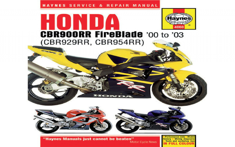 2003 Honda Cbr 954 Owners Manual
