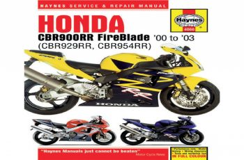 2003 Honda Cbr954rr Owners Manual