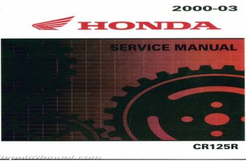 2003 Honda Cr125r Owners Manual