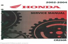 2003 Honda Cr250r Owners Manual