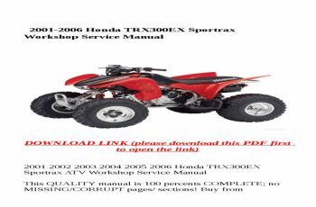 2003 Honda Trx300ex Owners Manual