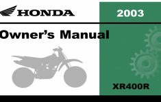 2003 Honda Xr70 Owners Manual