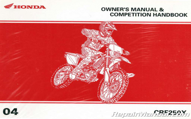 2004 Honda Crf250x Owners Manual