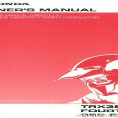 2004 Honda Rancher 350 Owners Manual