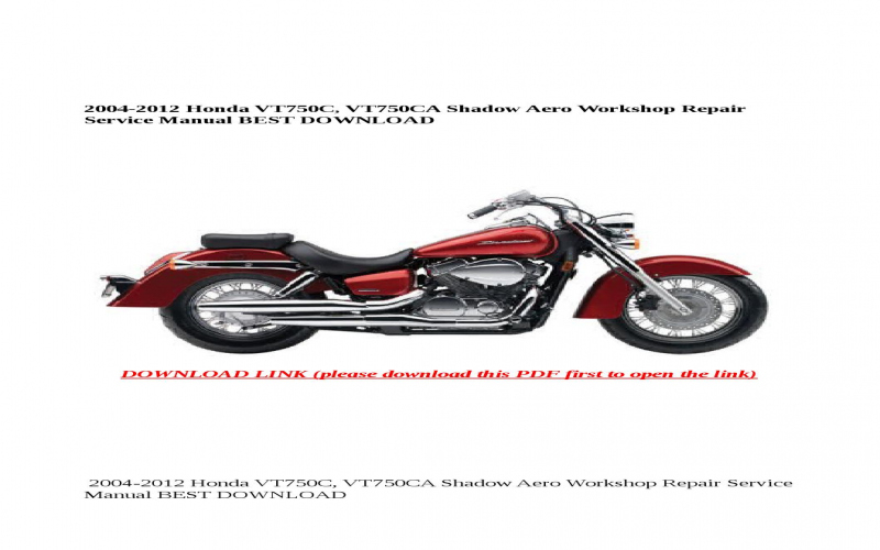 2004 Honda Shadow Aero Owners Manual
