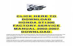 2004 Honda St1300 Owners Manual Pdf