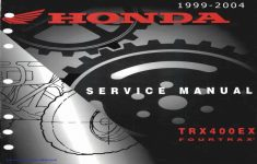 2004 Honda Trx400ex Owners Manual