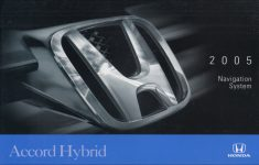 2005 Honda Accord Hybrid Owners Manual