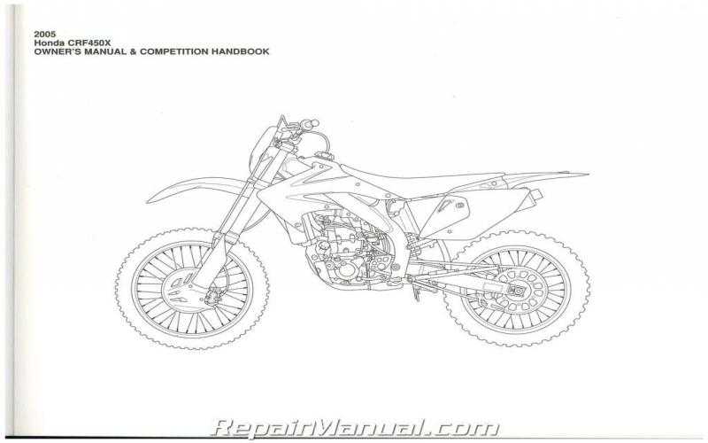 2005 Honda Crf450x Owners Manual
