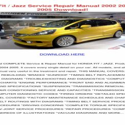 2005 Honda Fit Owners Manual Pdf