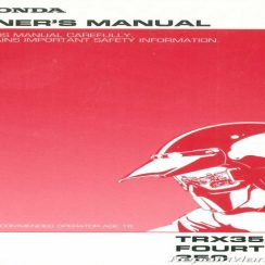 2005 Honda Rancher 350 Es Owners Manual