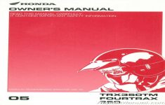 2005 Honda Rancher 350 Owners Manual