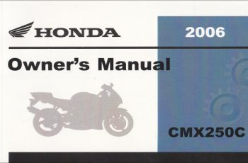 2005 Honda Rebel Owners Manual