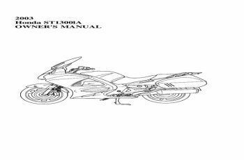 2005 Honda St1300 Owners Manual