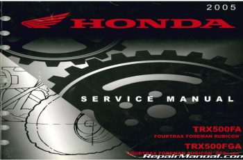 2005 Honda Trx500fa Owners Manual