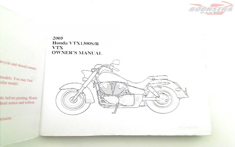 2005 Honda Vtx1300r Owners Manual