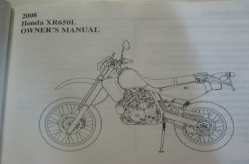 2005 Honda Xr650l Owners Manual