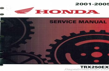 2006 Honda 250ex Owners Manual