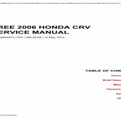 2006 Honda Cr V Owners Manual Pdf