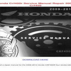 2006 Honda Crf450r Service Manual Free Download