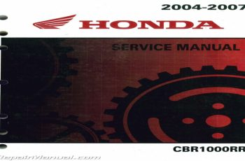 2007 Honda Cbr1000rr Owners Manual