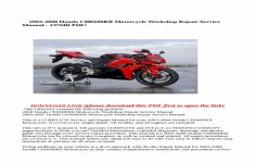 2007 Honda Cbr600rr Owners Manual Pdf