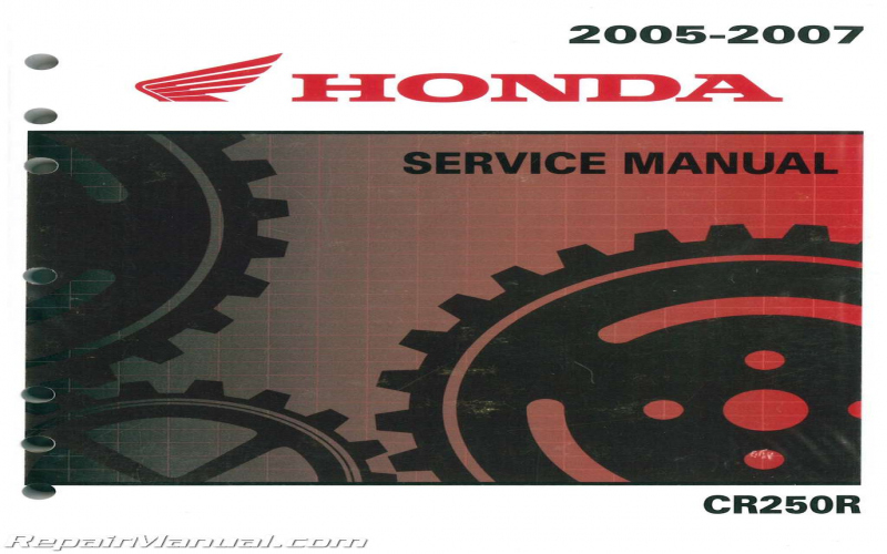 2007 Honda Cr250r Owners Manual
