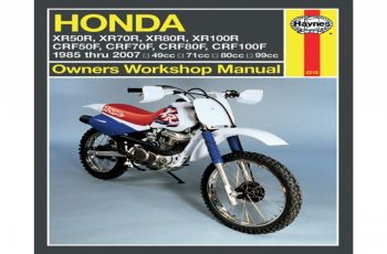 2007 Honda Crf70f Owners Manual