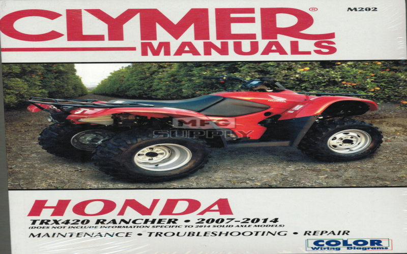 2007 Honda Trx 420 Owners Manual