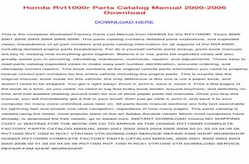2007 Honda Trx450r Service Manual Free Download