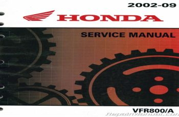 2007 Honda Vfr 800 Owners Manual