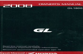 2008 Honda Goldwing 1800 Owners Manual