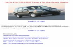 2008 Honda Pilot Owners Manual Online