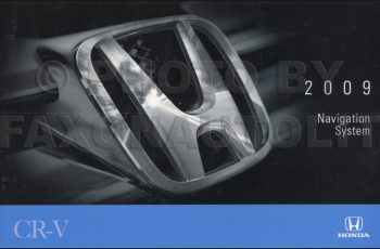 2009 Honda Cr V Ex L Owners Manual