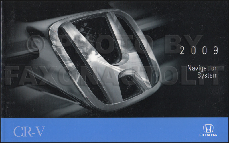 2009 Honda Cr V Exl Owners Manual