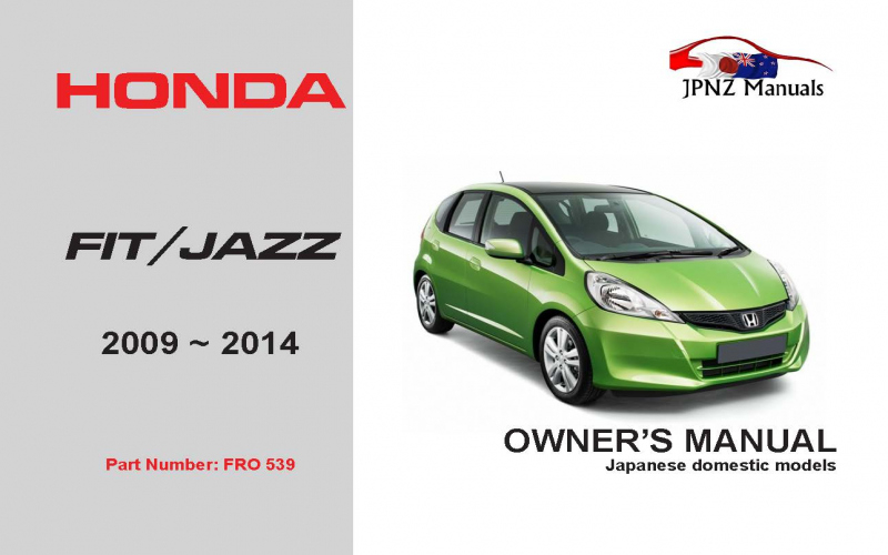 2009 Honda Fit Owners Manual